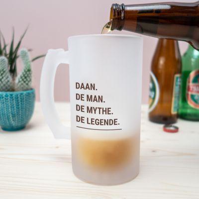 Cadeau voor vriend - Personaliseerbare bierpul modern