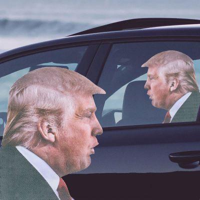 Grappige cadeaus - Trump autosticker
