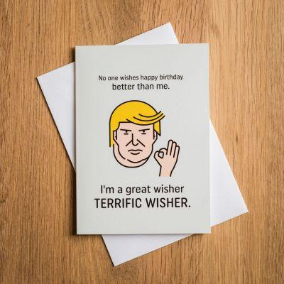 Terrific Trump verjaardagskaart