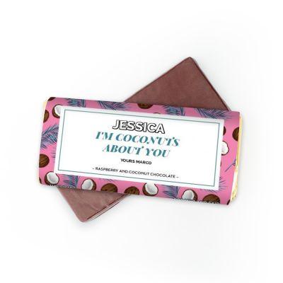 Valentijnscadeau voor haar - Chocolade met 4 tekstregels