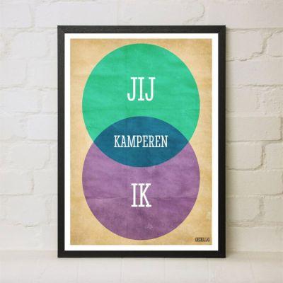 Persoonlijke Posters - Venndiagram personaliseerbare Poster