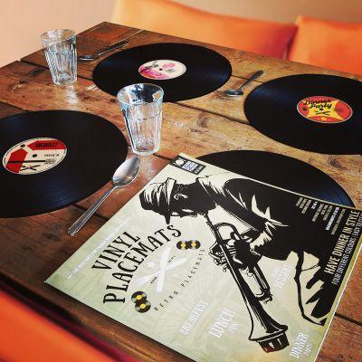 Decoratie - Vinyl Placemats Set van 4