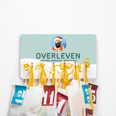 Exclusieve houten cadeaus - Winters sleutelbord