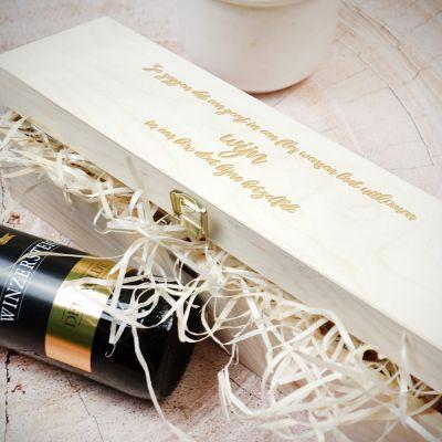 Gepersonaliseerde houten cadeaus - Personaliseerbare wijngeschenkdoos van hout