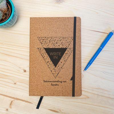 Boeken - Personaliseerbaar Kurken Notitieboek - Write In