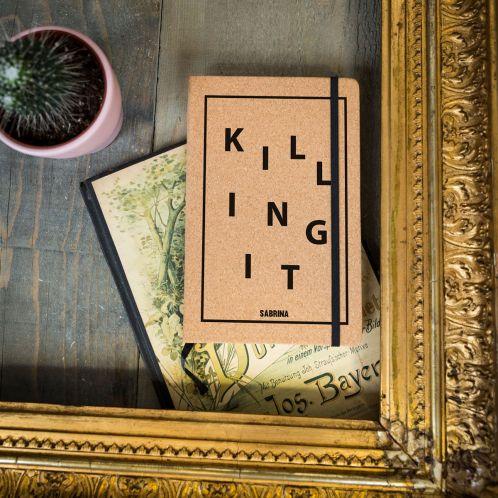 Personaliseerbaar kurken notitieboekje - Killing It