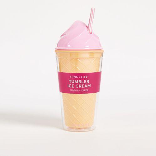 IJscrème drankbeker in het roze