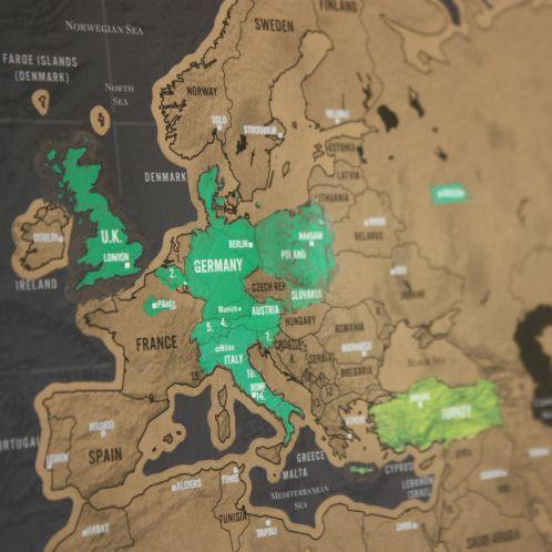 Cadeau idee - Kras-wereldkaart Scratch Map Deluxe