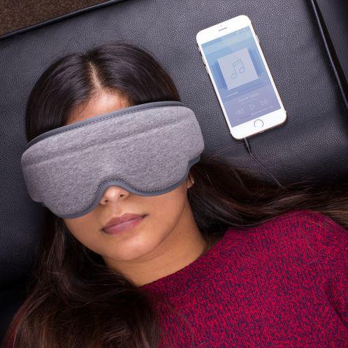 Slaapmasker met geïntegreerde koptelefoon