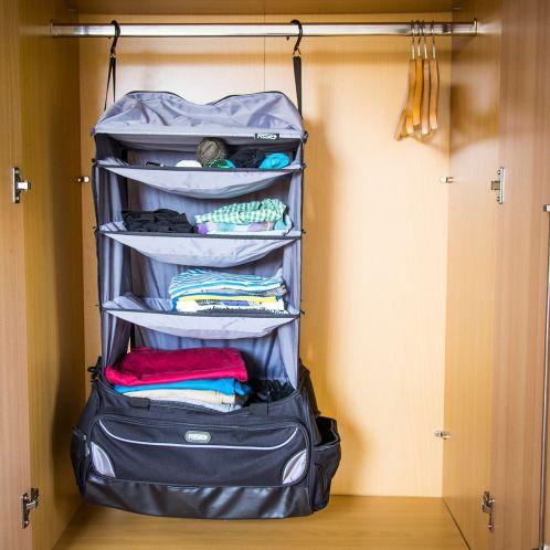 Weekendreisetas met geïntegreerde garderobe