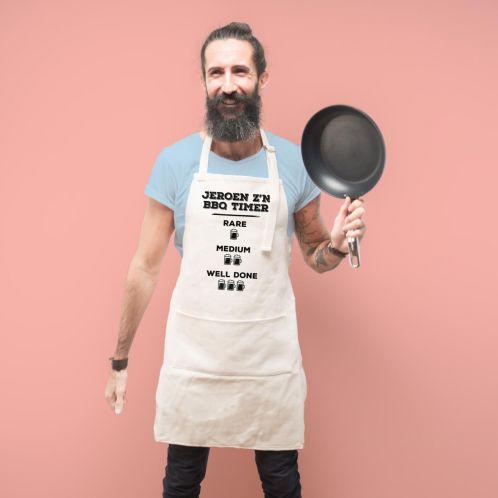 Cadeauboxen - Personaliseerbaar keuken schort – grillmeester