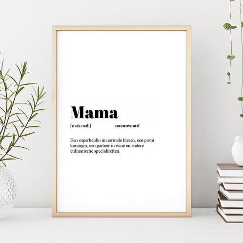 Cadeauboxen - Personaliseerbare Woordenboek Poster