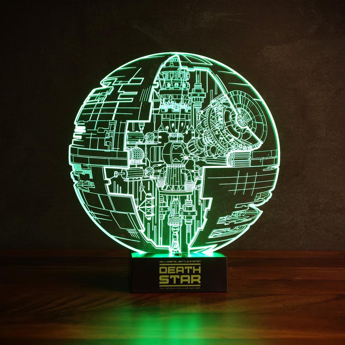 Star Wars Death Start lamp met 3D effect