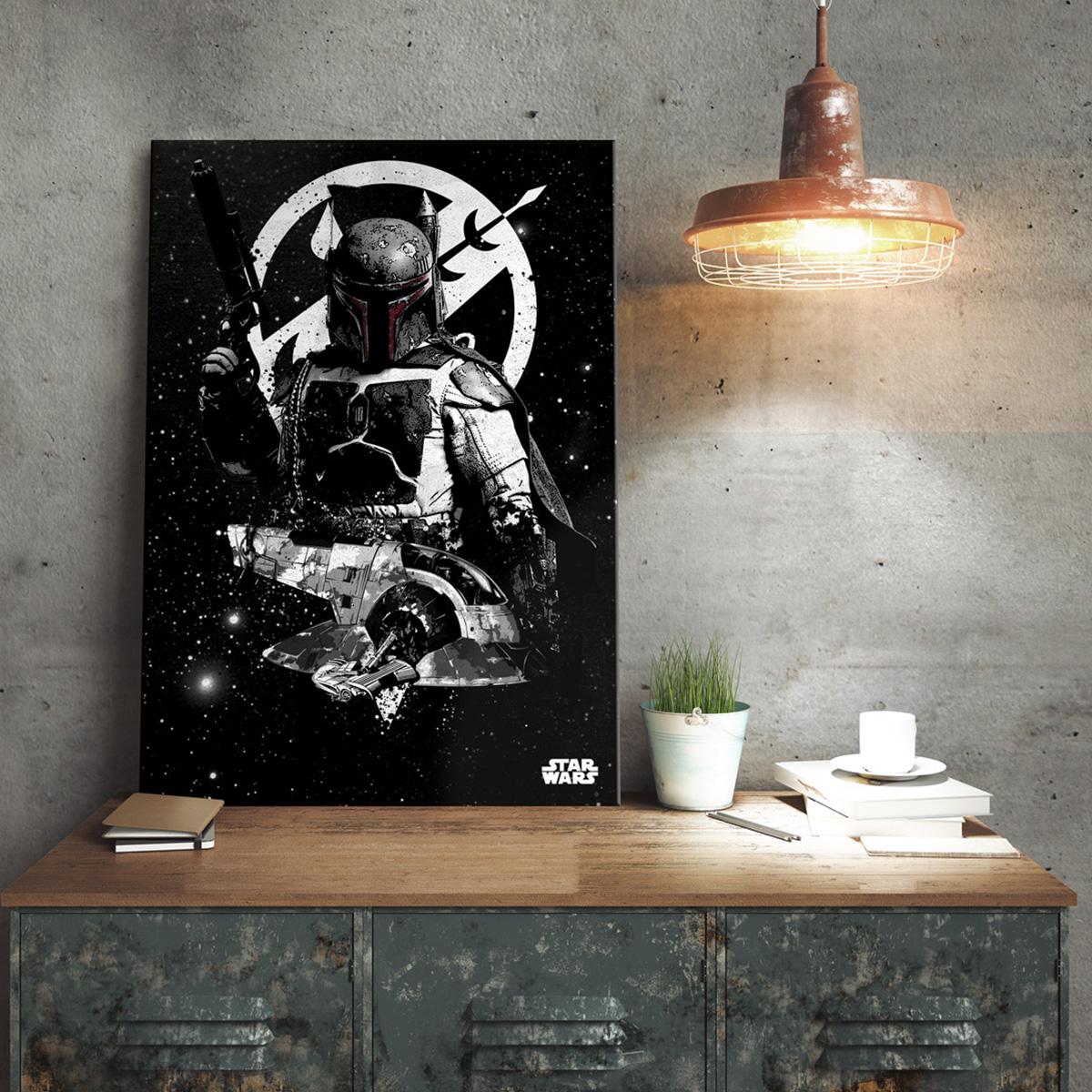 Star Wars metaalposter - Boba Fett Slave 1