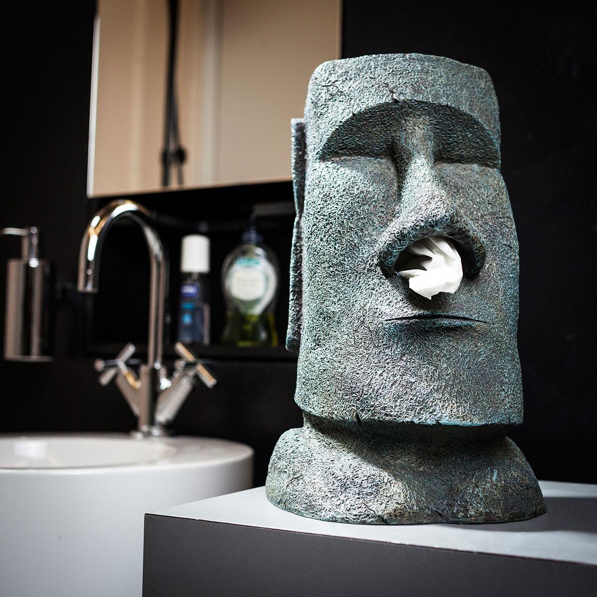 Moai tissuehouder