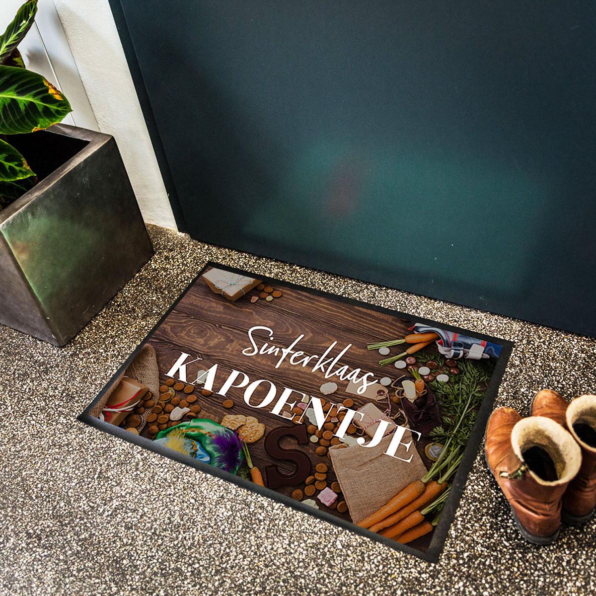sinterklaas cadeautjes - personaliseerbare deurmat met foto