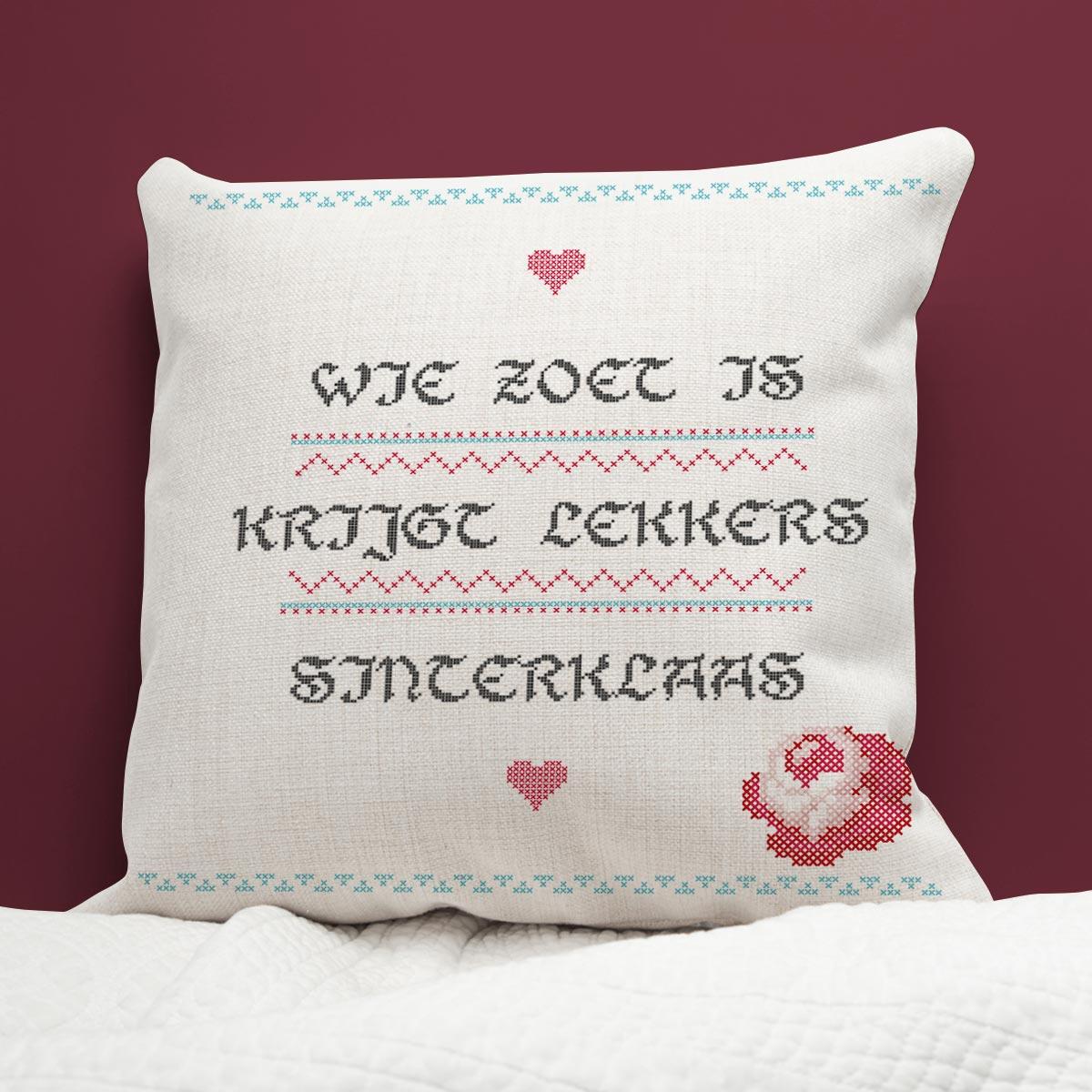 Sinterklaas surprise - personaliseerbaar kussen